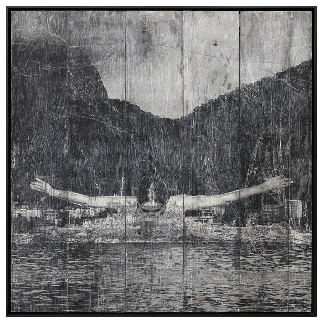 , 'GIANTS, Léonie PERIAULT from France, Botafogo, Close-up © Comité international Olympique, Rio de Janeiro, Brazil, ink on wood, 2016,' 2016, Lazinc