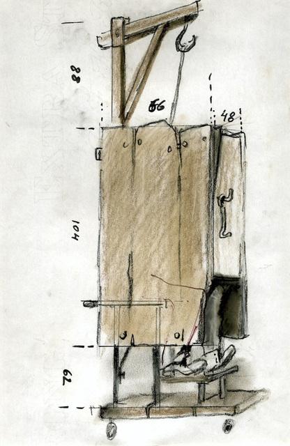 , 'Let artists perish: accessoire (gallows- closet),' 1985, Galerie Isabella Czarnowska