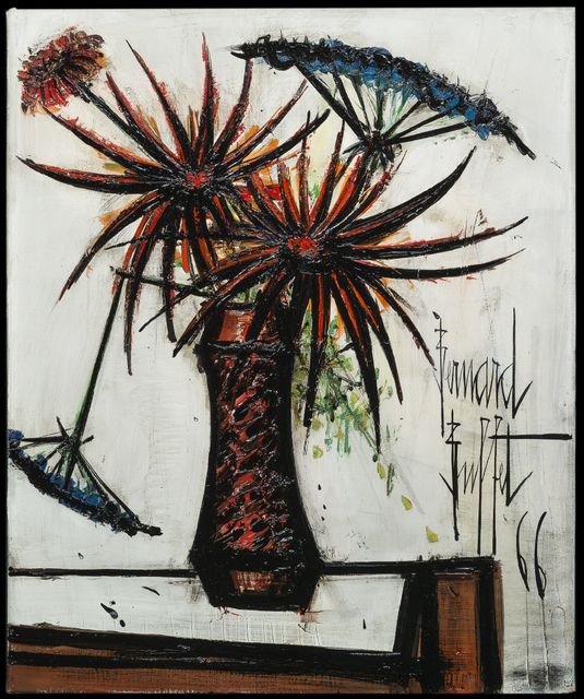 , 'Fleurs Oranges et Ombelles ,' 1966, Galerie de Souzy
