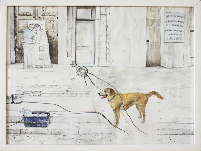 , 'loukanikos, riot dog 3,' 2016, Artdepot