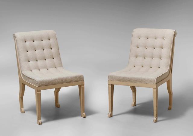 , 'Pair of Egyptian Chairs,' 1940, 18 Davies Street