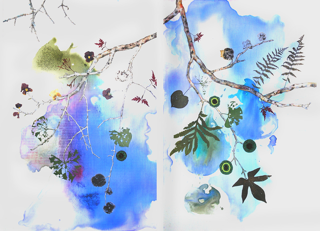 Marilla Palmer, 'Fruit of the Japanese Maple', 2013, Painting, Mixed media on panel, Kathryn Markel Fine Arts