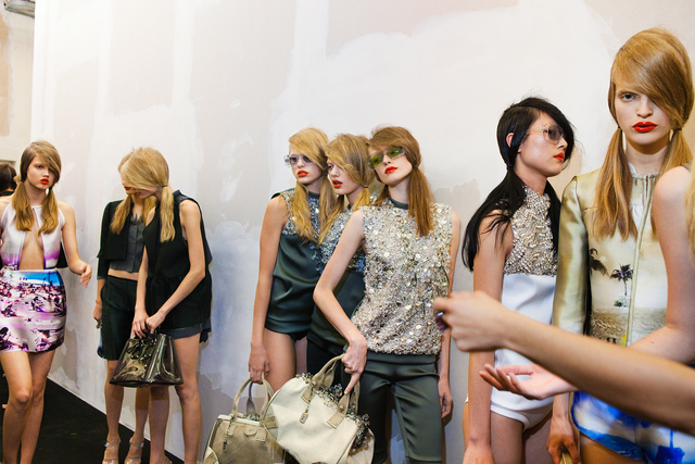 Lauren Greenfield, 'Models backstage at Prada's spring show, Milan, ED 1/5', 2009, Telluride Gallery of Fine Art