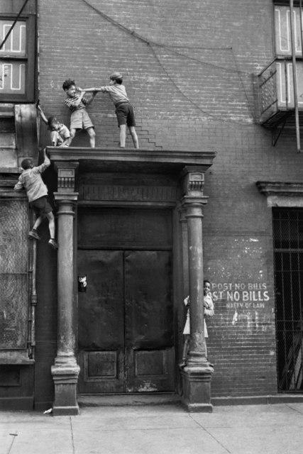 Helen Levitt, 'N.Y.C. (kids fighting over doorway)', ca. 1942, Laurence Miller Gallery