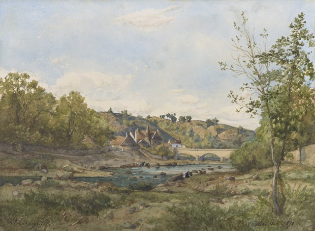, 'Vue d'Hérisson,' 1871, Stoppenbach & Delestre