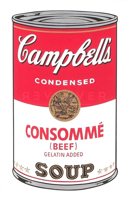 Andy Warhol, 'Campbell's Soup: Consommé (FS II.52) ', 1968, Print, Screenprint on Paper, Revolver Gallery