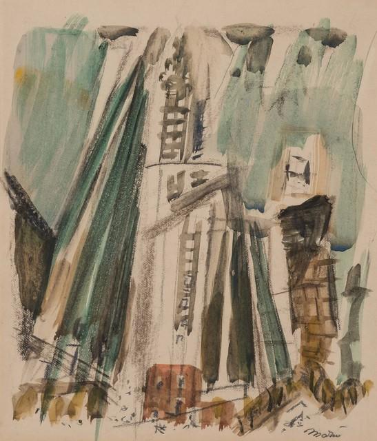 John Marin (1870-1953), 'Woolworth Building', circa 1925, Doyle