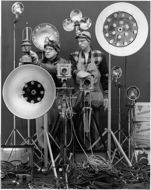 , 'Link and George Thom with Link's Flash equipment,' 1956, Danziger Gallery