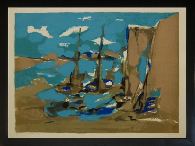 Marcel Mouly, 'Amsterdam', 1980, Print, Color lithograph on Arches paper, Baterbys