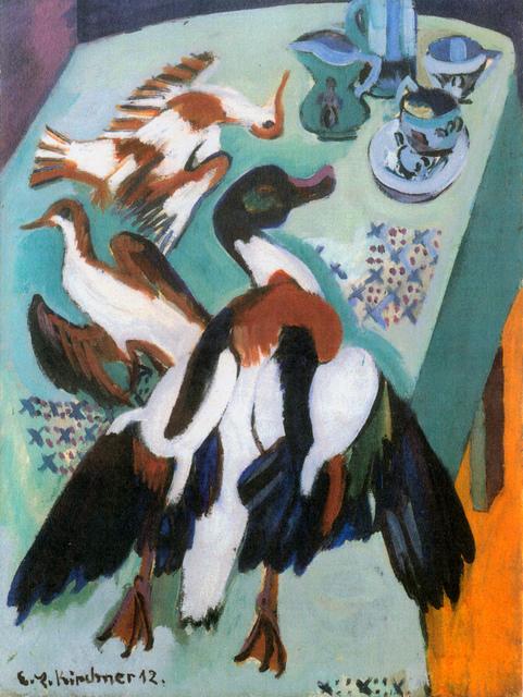 , 'Stillleben mit Ente (Brandgans) und Schnepfen,' 1912-1920, Henze & Ketterer & Triebold