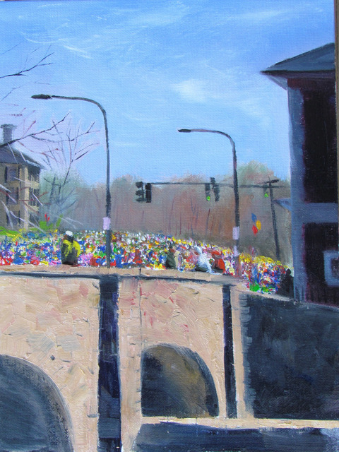 , 'Runners Crossing Over the Charles ,' ca. 2018, Copley Society of Art