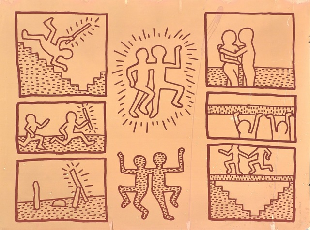 Keith Haring, 'UNTITLED ('BLUEPRINT' JAN 15, 1981)', 1981, Artificial Gallery