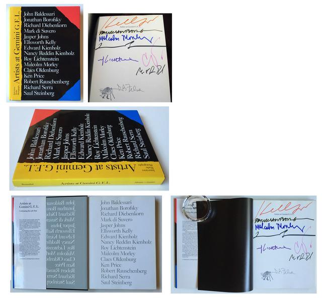"Robert Rauschenberg, '""25 Years Studio"",  1993, SIGNED by the BIG-8 Contemporary Artists, Gemini G.E.L.', 1993, Ephemera or Merchandise, Lithograph, ink on paper, VINCE fine arts/ephemera"