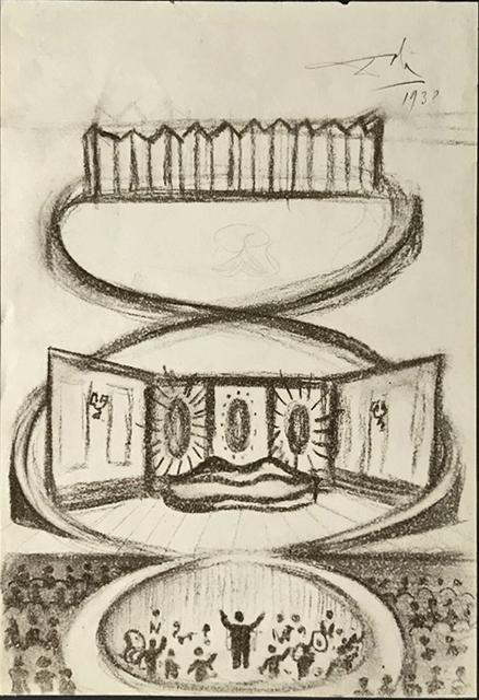 , 'Scene de theatre ou night club, avec Saliva Sofa,' 1938, Fairhead Fine Art Limited