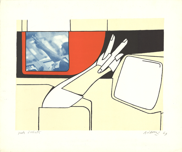 Valerio Adami, 'V for Victory', 1969, ArtWise