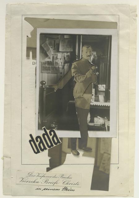"Johannes Baader, 'The Author of the Book ""Fourteen Letters of Christ"" in His Home (Der Verfasser des Buches Vierzehn Briefe Christi in seinem Heim)', 1920, The Museum of Modern Art"