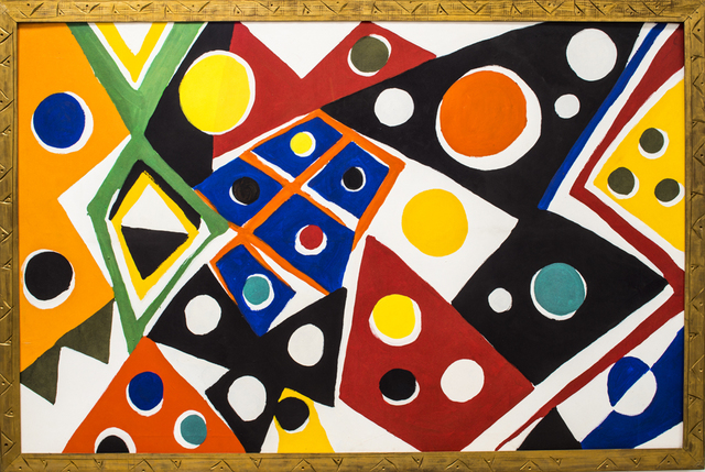 Kim MacConnel, 'Bandigara', 1989, Painting, Cotton flocking on canvas, painted carved wood frame, Rosamund Felsen Gallery