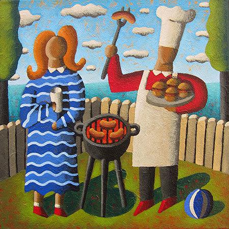 Jordi Pintó, 'The barbecue', GALERIA JORDI BARNADAS