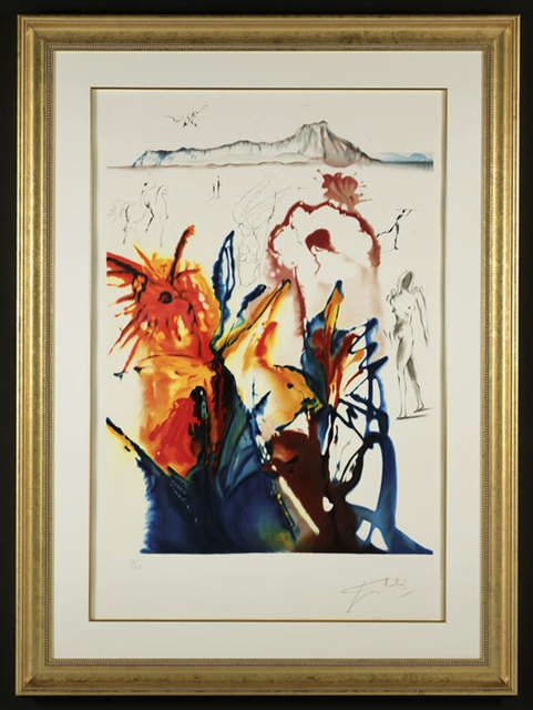 ", '""The Mystery of Diamond Head"" Hand Signed Salvador Dali Lithograph,' 1941-1957, Elena Bulatova Fine Art"