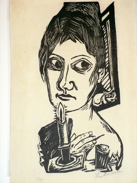 , 'Frau mit Kerze (Woman with candle) (Minna Beckmann Taube) ,' 1920, Worthington Gallery