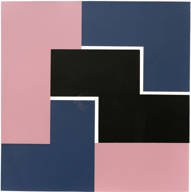 , 'PINK, BLUE & BLACK,' 1969, Hales Gallery