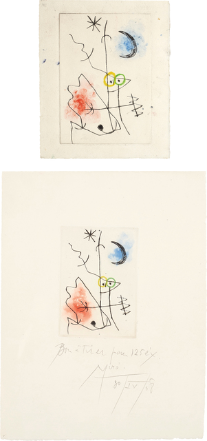Joan Miró, 'Le grillon (The Cricket): two impressions', 1958, Phillips