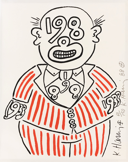Keith Haring, 'Untitled (1988 Man)', 1988, Hamilton-Selway Fine Art