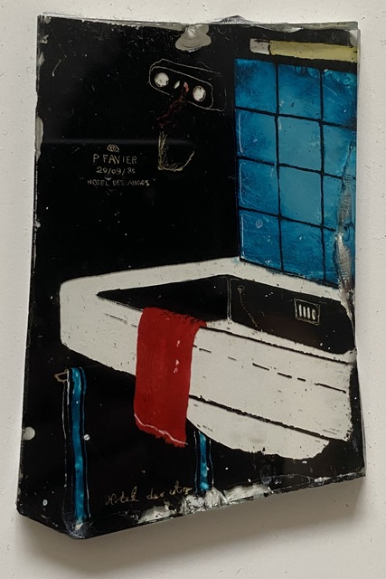 Philippe Favier, 'Hotel des Anges', 1985, Painting, Cold enamel on glass, Mireille Mosler Ltd.