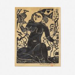 Shiko Munakata, 'Hawk Woman,' 1955/1958, Wright: Prints + Multiples (January 2017)