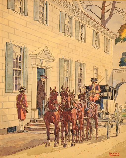 Edward Penfield, 'Washington at Mount Vernon', The Illustrated Gallery