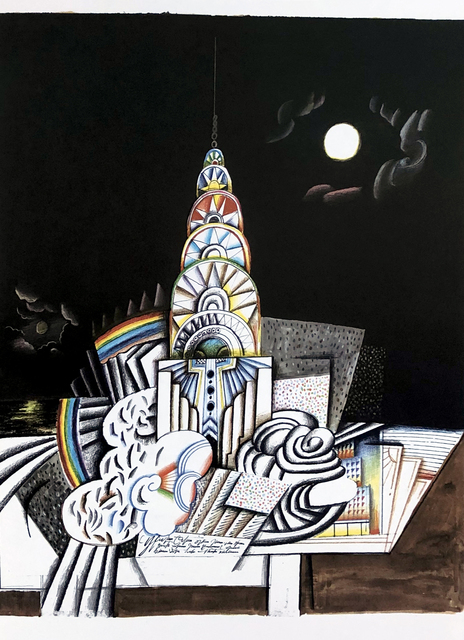 Saul Steinberg, 'Saul Steinberg Empire State lithograph', ca. 1970, Lot 180
