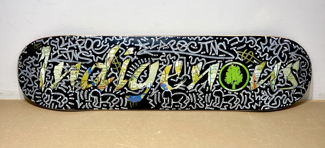 LA II (Angel Oritz), 'Indigenous', 2011, Painting, Spray enamel and mixed media on wooden skate deck, Woodward Gallery