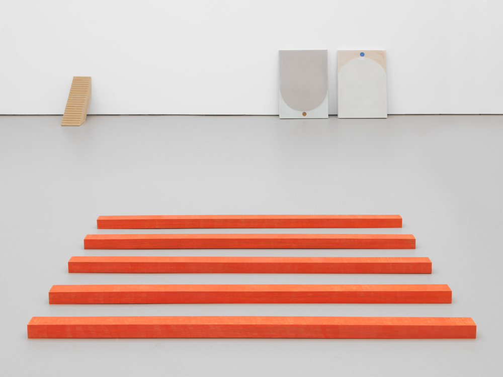 Installation view of This Is Not a Prop, David Zwirner, New York, 2018.