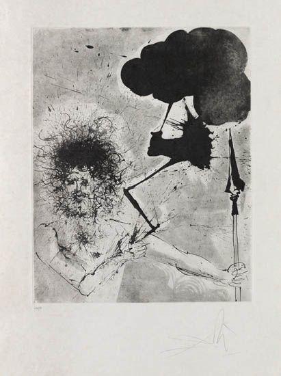 Salvador Dalí, 'Jupiter', 1963-1965, Print, Drypoint and aquatint etching, Galerie d'Orsay