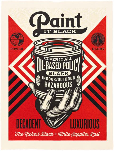 Shepard Fairey (OBEY), 'Paint it Black (Hand)', 2015, Pace Prints