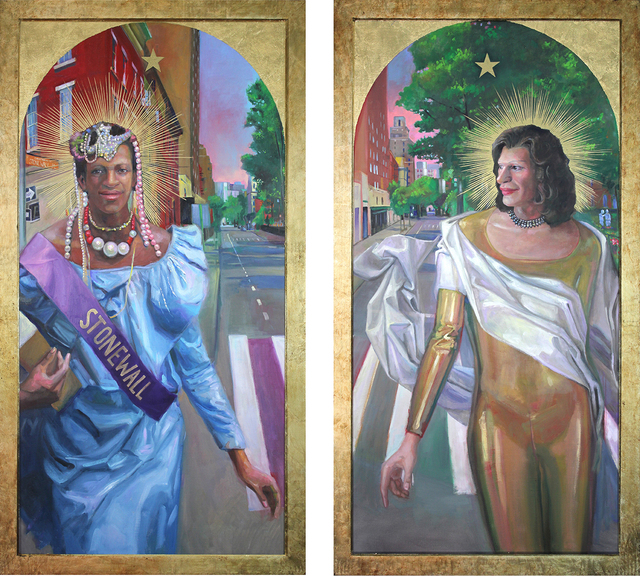 Carl Grauer, 'Marsha P Johnson & Sylvia Rivera (Stonewall Warriors Diptych)', 2019, Carrie Haddad Gallery