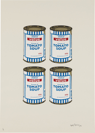 Banksy, 'Soup Cans Quad (Cream paper),' 2006, Phillips: Evening and Day Editions (October 2016)