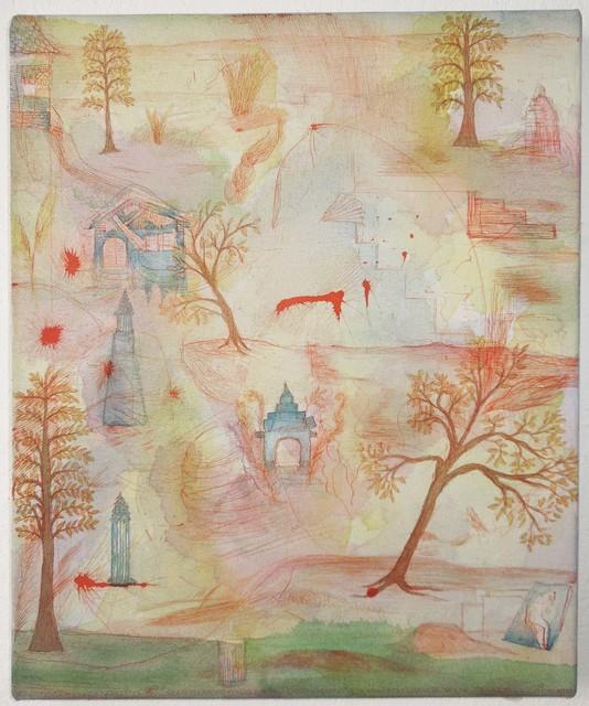 , 'Pavillion in Landschaft,' 2018, Galerie Parisa Kind