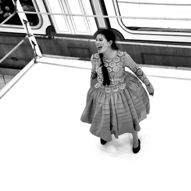 Anna Jermolaewa, 'Cholita wrestling', ca. 2020, Photography, Lambaprint auf Fine Art Baryta, Charim Galerie