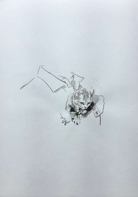 Ruth Beraha, 'Kitten (Goodfellas)', 2019, Drawing, Collage or other Work on Paper, Chinese Ink on Paper, Ncontemporary