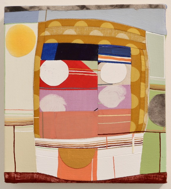 Barbara Campbell Thomas, 'Circles', 2019, Painting, Fabric and collage on canvas, James May Gallery
