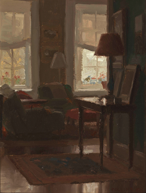 Jacob Collins, 'Library Afternoon', 2008, Painting, Oil on panel, Adelson Galleries