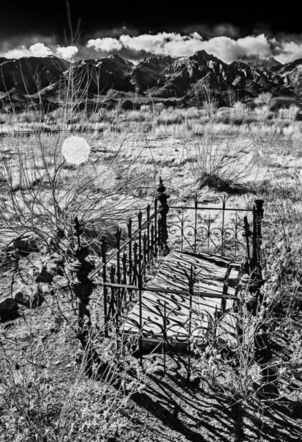Osceola Refetoff, 'Pioneer Cemetery - Infrared Exposure - Lone Pine, California', 2013, LAUNCH LA