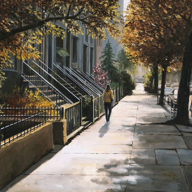 Claudio Filippini, 'Autunno a New York', 2021, Painting, Oil on canvas, Galleria Punto Sull'Arte