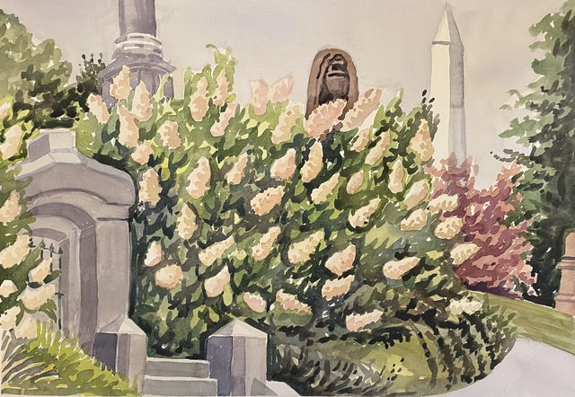 Susan Greenstein, 'Greenwood Flowers', 2020, Painting, Watercolor, 440 Gallery