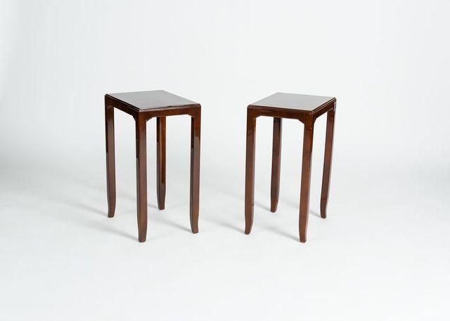 Maison Leleu, 'Pair of Tall Side Tables', 1958, Design/Decorative Art, Original Beka lacquer by Saïn and Tambuté, Maison Gerard