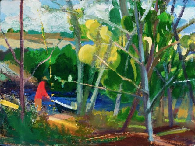 , 'Red Man and Boat,' 2017, Thomas Deans Fine Art