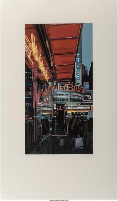 Richard Estes, 'Study XIII - Theater', 1997, Print, Woodcut in colors on Nishinouchi Gasen paper, Heritage Auctions