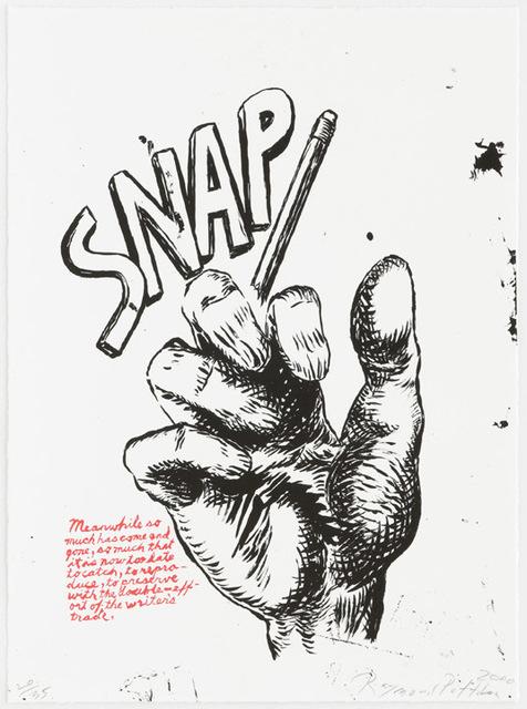 Raymond Pettibon, 'Untitled (Snap...), from Plots on Loan I', 2000, Kunzt Gallery