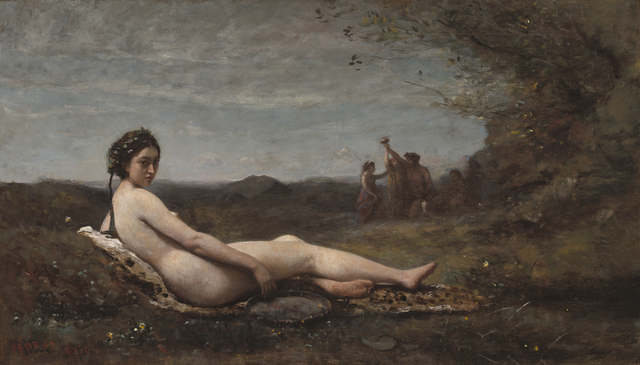 Jean-Baptiste-Camille Corot, 'The Repose', 1860-reworked c. 1865/70, Painting, Oil on canvas, Clark Art Institute